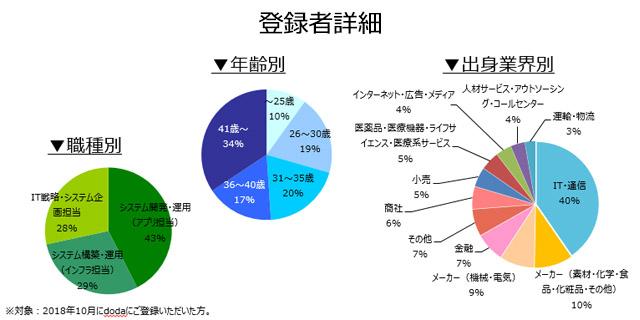 社内SE職の登録者詳細(2018年11月)